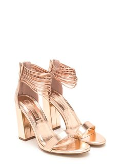 948d8fe5247 Cord Progression Chunky Metallic Heels