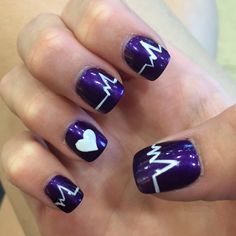My life in a heartbeat nails. #InMemoryOf
