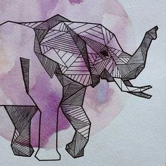 Origami elephant tattoo water colors ideas for 2019 Elephant Tattoos, Watercolor Background, Elephant Art, Geometric Animals, Drawings, Geometric Drawing, Geometric Elephant, Art, Small Geometric Tattoo