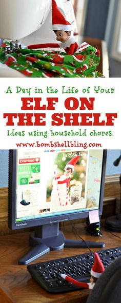 Elf Ideas Using Household Chores- this is so cute!!
