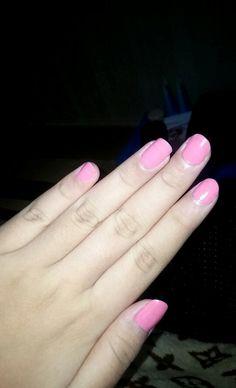 Pink pastel nail art :)