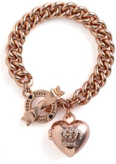 Juicy Couture Crown Icons Heart Locket Bracelet in Pink (rose gold) - Lyst Juicy Couture Crown Icons Heart Locket Bracelet in Pink (rose gold) - Lyst Rose Gold Jewelry, I Love Jewelry, Sterling Silver Jewelry, Jewelry Necklaces, Bracelets, Skull Jewelry, Hippie Jewelry, Juicy Couture Bracelet, Juicy Couture Jewelry