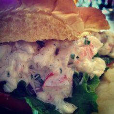 #ShrimpSalad sliders for #lunch? #longislandfoodie #eatlocal #drinklocal #southsidehotel #bayshore #neddy