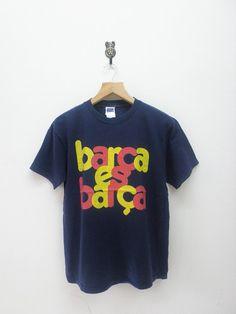 Vintage Barcelona Football Team T-Shirt Sport by RetroFlexClothing