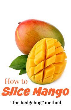How to Slice a Mango | How to use the hedgehog method to cut up a mango