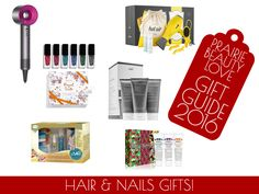 Dyson Supersonic Hair Dryer - Let It Blow! It's DRYBAR To Go Set - living proof. Perfect Hair Day Travel Kit - JULEP Royal Suite Gift Set - AMOPE Manicure Gift Set - Kiel's Three Piece Hand Cream Set  Check out the blog for some great beauty gift ideas in my Gift Guide! Gifts for hair, nails, skincare, fragrance, bath & body, and even for the man in your life!  http://www.prairiebeautylove.ca/2016/11/gift-guide-2016-beauty-gifts.html