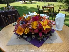 wedding-origami-centerpiece
