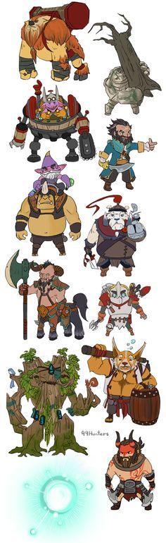 #Dota 2 - Mini Radiant STR heroes by spidercandy.deviantart.com on @deviantART