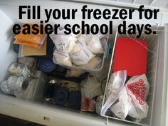 fill your freezer for easy school days