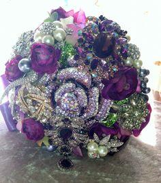 Deposit on ViolaPurple brooch bouquet/ colors of  by TheVeiledLady, $147.50