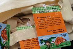 """DINOLETA: Kit festa """"João Augusto e seus amigos dinossauros"""" - 4 anos"""
