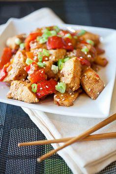 Dak Galbi, a spicy stir-fried Korean dish. Idk about the potatoes though...