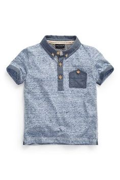 Buy Blue Marl Polo (3mths-6yrs) from the Next UK online shop