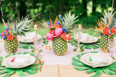 Palms, Flamingos, and Pineapple Soiree