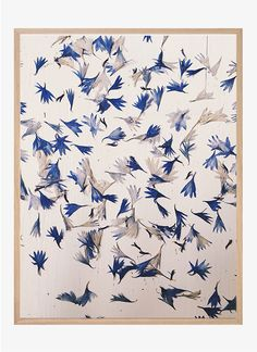 Pressed blue by Ida Lærke   Poster from theposterclub.com