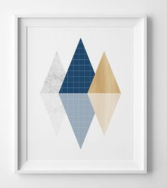 abstract print Scandinavian art, wall art prints affiche scandinave navy wall art, geometric print, printable art navy printable poster. You