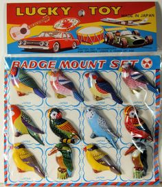 Free shipping Vintage Display Card With 12 Bird by bobboot on Etsy