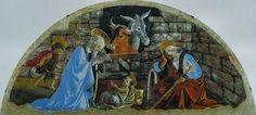 Sandro Botticelli - The Birth of Christ Fresco, 200 x 300 cm Santa Maria Novella, Florence Renaissance Kunst, Italian Renaissance, Sandro, Nativity Painting, Giorgio Vasari, Santa Maria Novella, The Birth Of Christ, Bible Pictures, Italian Painters