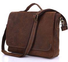 Handmade Vintage Leather Briefcase / Leather Messenger Bag / MacBook Laptop Bag - from Neo Vintage Leather Bags Leather Laptop Bag, Leather Briefcase, Business Briefcase, Leather Crossbody, Cow Leather, Vintage Leather, Men's Vintage, Macbook Bag, Laptop Messenger Bags