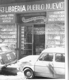 La llibreria de vell a La Rambla.