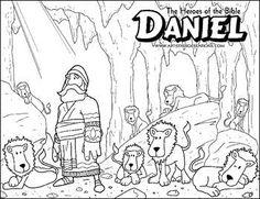 PROFETA DANIEL EN EL FOSO DE LOS LEONES para pintar