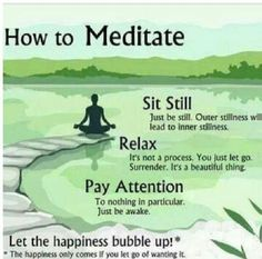 How to meditate...