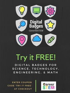 94 best badges badges badges badges images on pinterest badge try it free digital badges in science technology engineering and mathematics fandeluxe Gallery
