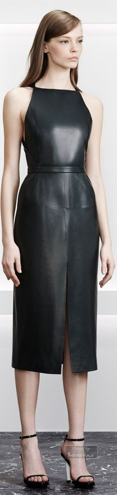 Sexy edgy black Leather Dress by Jason Wu Look Fashion, Fashion Show, Womens Fashion, Fashion Design, Fashion Edgy, Dress Fashion, Luxury Fashion, 20s Fashion, Fashion Black
