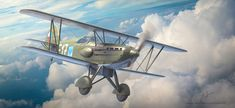 Avia the Gloster Gladiator, it was a good plane, but it was outdated before it could get airborne. Aviation Art, Planer, Air Force, Fighter Jets, Aircraft, Artwork, Czech Republic, History, Aviation