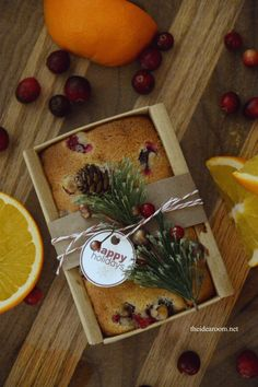 This Orange Cranberry bread just screams Christmas - a perfect holiday gift to make.
