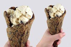 Este verano el helado se sirve en un cono de cookies
