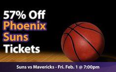 $26 (57% off) Phoenix Suns Tickets vs Dallas Mavericks Fri. Feb. 1 @ 7:00pm - Crowd Seats Cheap Sports Tickets