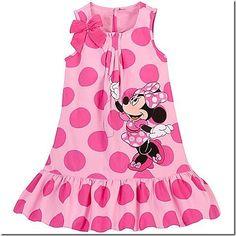 Woven Minnie Mouse Dress for Girls Disney Dresses For Girls, Disney Baby Clothes, Kids Outfits Girls, Little Girl Dresses, Girl Outfits, Girls Dresses, Vestidos Minnie, Girls Sleepwear, Hoodie Dress