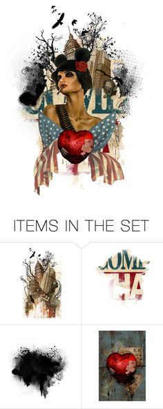 """Hearts to sacrifice, freedom to live"" by queenofmischief ❤ liked on Polyvore featuring art"