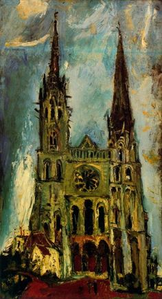 Chaïm Soutine (Belarusian/French. 1893-1943)   Chartres Cathedral (1934)