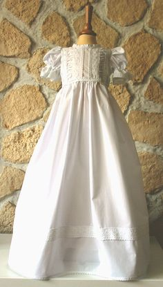 Family christening gown by DesignsbyBK on Etsy