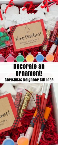 Decorate an Ornament Christmas Neighbor Gift Idea by Partyography on Love the Day