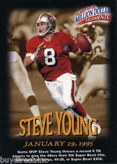 RARE 1997 FLEER MILLION DOLLAR MOMENTS PROMO STEVE YOUNG SAN FRANCISCO 49ers