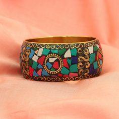 Bollywood Indian Multicolor GoldTone Jewelry Bangles Bracelet Sizes 2-8 #DesaiJewellers #Bangle