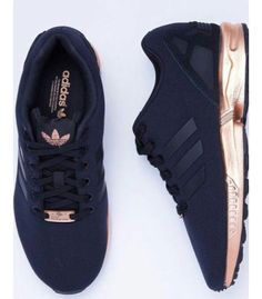 3e03378c7fd0 black sneakers adidas workout sportswear sports shoes adidas zx flux shoes  adidas shoes black and gold black rose gold love need black and gold adidas  ...