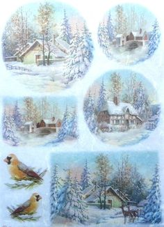 Stamperia Paper For Stamping Christmas Postcards for sale online Christmas Topper, Christmas Gift Tags, Winter Christmas, Vintage Christmas, Christmas Crafts, Christmas Decorations, Christmas Ornaments, Christmas Scenes, Christmas Pictures