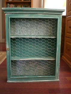 Rustic Chickenwire Display Cabinet by blissbyamy on Etsy, $60.00