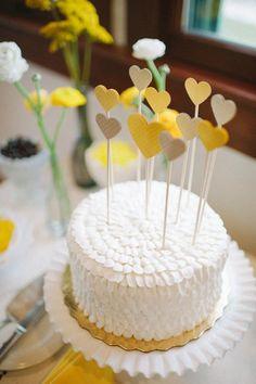 Topo de bolo de papel para casamento | Em Breve Casadinhos