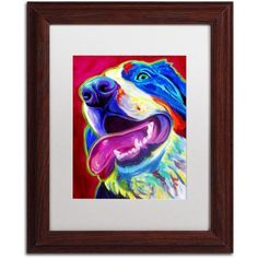 Trademark Fine Art Sunshine Canvas Art by DawgArt, White Matte, Wood Frame, Size: 16 x 20