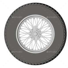 Car wheel isolated on white background. 3D render. Include JPEG and transparent PNG