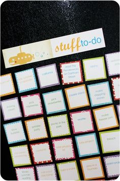 Summer fun list ... Love the idea & it'll help me be more organized and get us out to explore :)