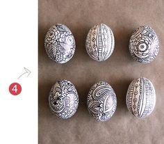Doodle eggs by Alisa Burke