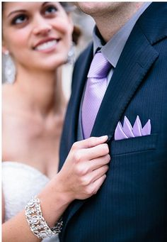 Budget wedding idea: colored pocket squares for the guys instead of boutineers. photo  Ian Holmes, Paris.   #MayWeddingPhotoChallenge