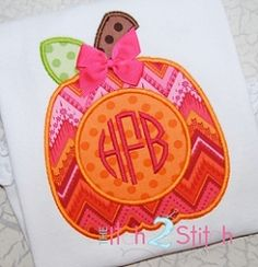 Pumpkin Monogram Applique - 3 Sizes! | Fall | Machine Embroidery Designs | SWAKembroidery.com The Itch 2 Stitch
