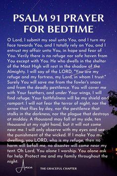 Psalm 91 Prayer, Prayer Scriptures, Bible Prayers, Faith Prayer, Psalm 51, Bible Verses, Prayer Before Sleep, Sleep Prayer, Bedtime Prayer